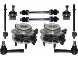 10 Pcs Kit Front Wheel Hub Suspension Parts for Explorer Ranger Mountaineer