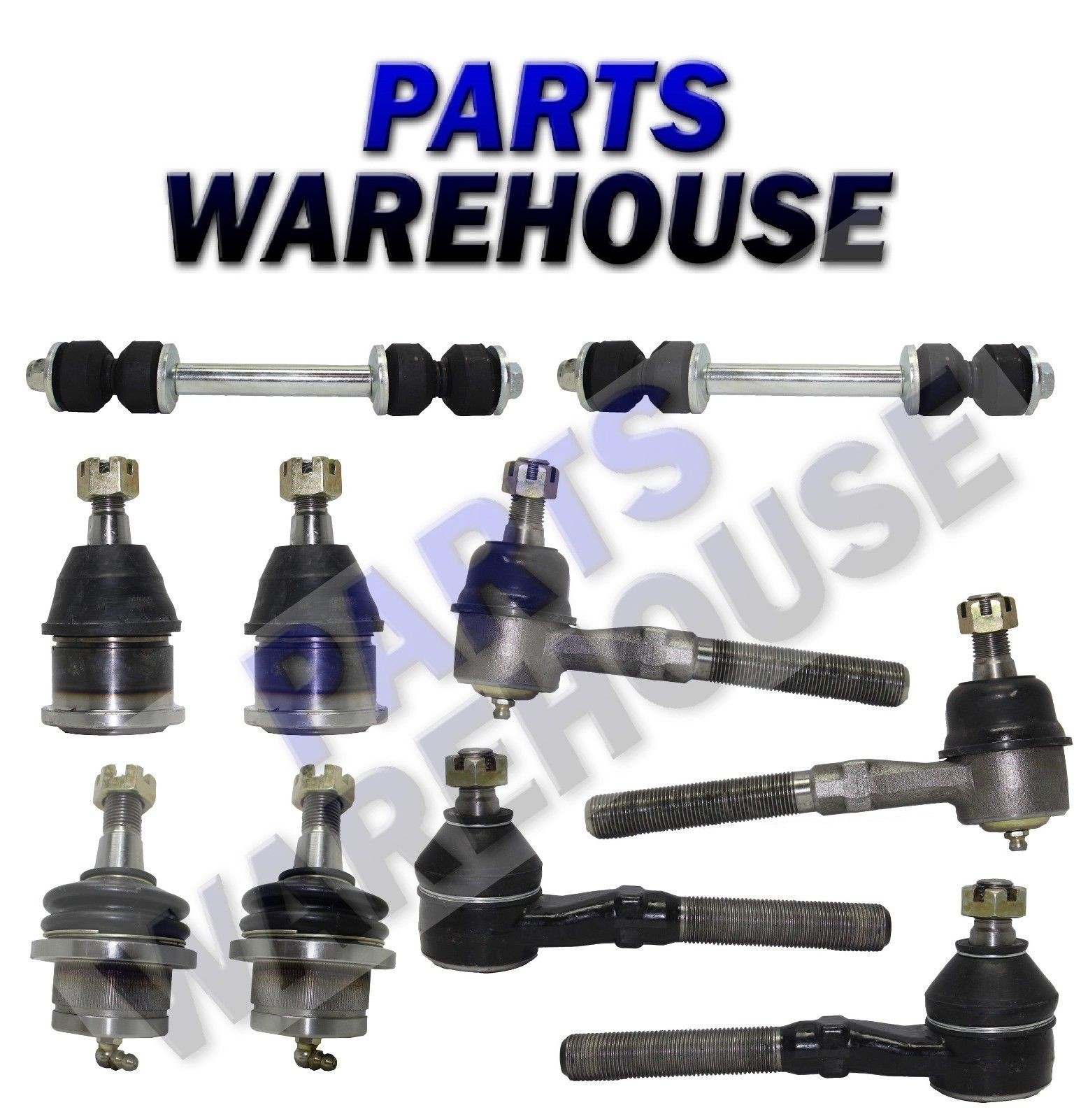 Control arms parts front suspension kit 10 piece 1997 2004 ford expedition f 150 10 year warranty