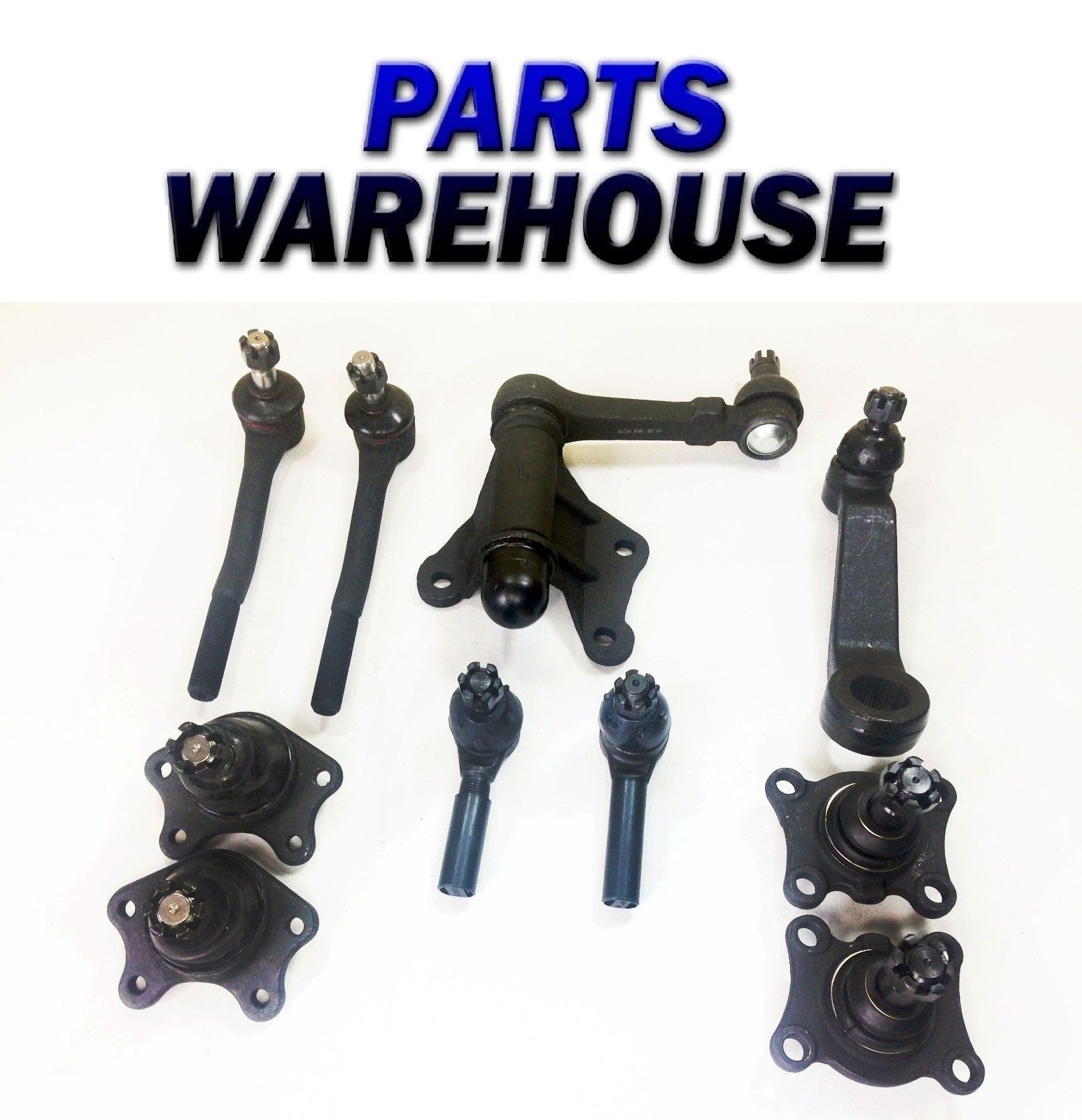 10pc Front Tierod Ball Joint Pitman Idler Arm for Toyota Pickup T100 4Runner 4x4