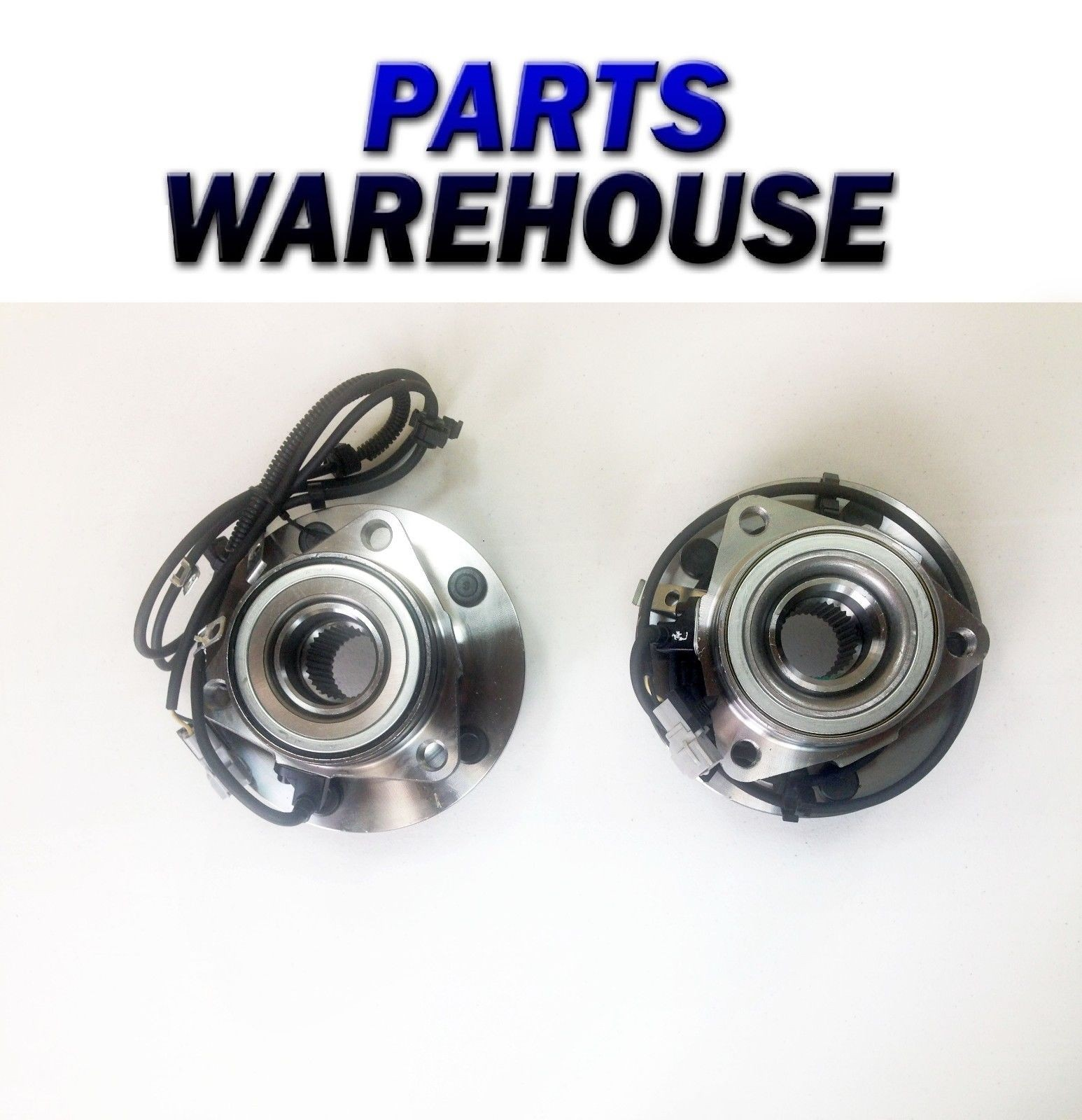 2 Wheel Hubs & Bearings For 97-99 Dodge Ram 1500 4X4 With