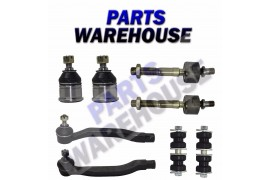 8 Part Suspension Kit Lower Ball Joints Inner & Outer Tie Rod Sway Bar Link 2Wd