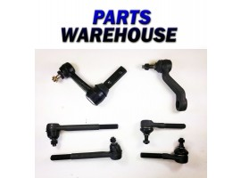 6Pc Kit Idler Pitman Arm Inner Outer Tie Rod Ends For Dodge Ram 2Wd 2Yr Warranty