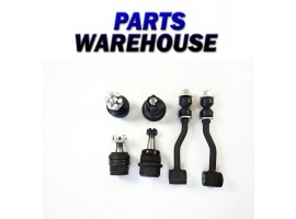 6 Pc Kit Upper Lower Suspension Ball Joints Sway Bar Links R/L 2 Year Warranty