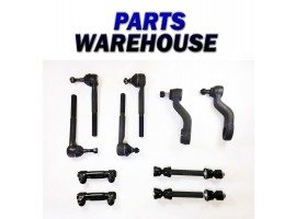 10 Pc Kit Pitman Idler Arm Sway Bar Outer Inner Tie Rod End 2Wd 2 Year Warranty