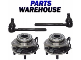4 Pcs Kit Front Wheel Hub Outer Tie Rod End for Blazer Bravada Jimmy S10 Sonoma