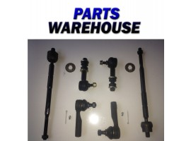 6 Pc Steering Kit Tie Rods Inner Outer Sway Bar Links New 1 Year Warranty