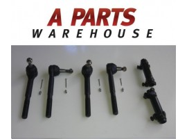 4 Tie Rod Ends (Inner,Outer) 2Sleeves Chevy Suburbank1500 K2500 K3500 4Wd 88-00