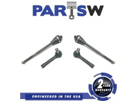 4 Tie Rod Ends Fits Silverado 1500 00-01-02-03-04 Outer 4Wd 1 Year Warranty