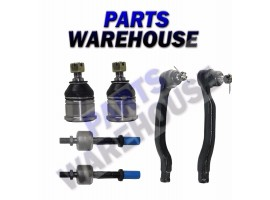 6Pc Kit Inner Outer Tie Rod Lower Ball Joints For 90-93 Honda Accord 1Y Warranty