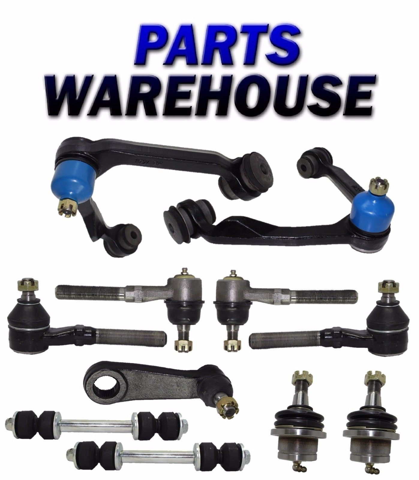 11 Pcs Kit 1999 Ford Expedition 4Wd Suspension Steering